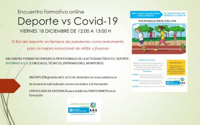 Encuentro formativo online: Deporte vs COVID-19